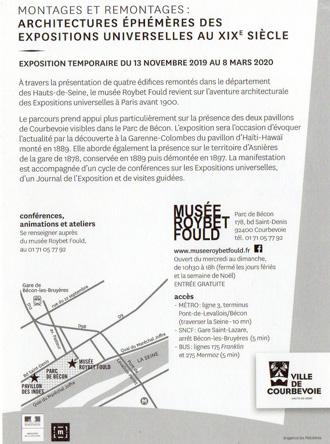 Exposition à Courbevoie (92), en détails