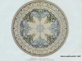 Rosace présentée à l'Exposition universelle de 1900 à Paris par la Société des carrelages céramiques de Paray-le-Monial, dans la «Revue des arts décoratifs» 1901