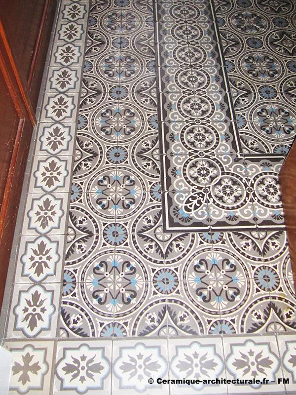 Villers-sur-Mer (14), carreaux mosaïques en tapis