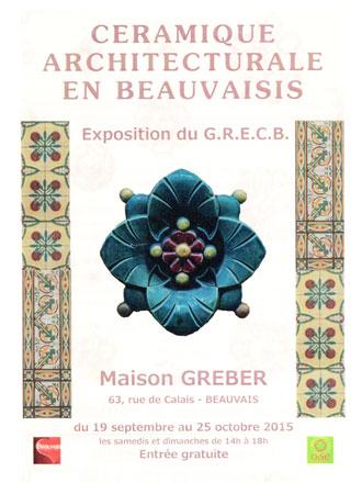 Flyer de l'exposition Céramique architecturale en Beauvaisis