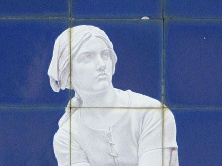 Jeanne d'Arc d'après Chapu, du peintre Arnoux, à Ault (80)