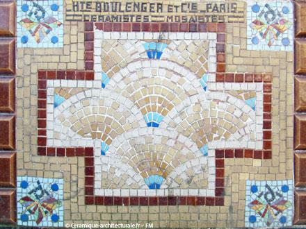 Mosaïque sur une ancienne boulangerie, à Ivry-sur-Seine (94)