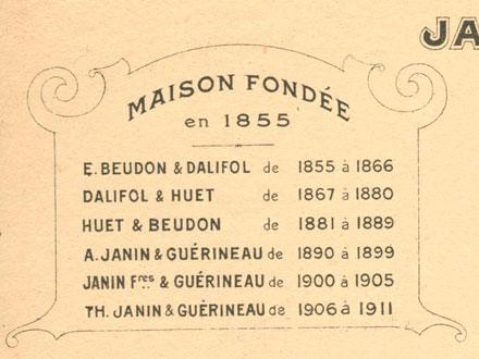 Historique de l'usine sur facture de 1914, collection FM