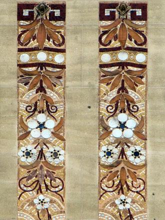 Motif d'écailles en fond de décor, 1 rue Boulard à Paris (75), 1911