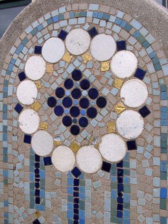 Etablissement de bains de mer de Deauville (14),  Mosaïque sur une borne