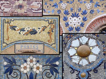 Autres motifs floraux à Paris, Saint-Ouen, Le Raincy, Charleville-Mézières et La Bouboule