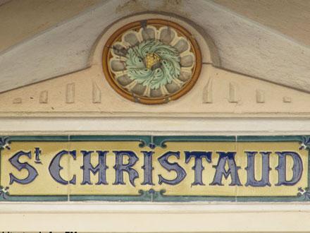 """Panneau villa """"ST CHRISTAUD"""" et cabochon Hte Boulenger & Cie"""