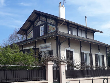 Le pavillon vu de la rue Auguste Buisson – La Garenne-Colombes