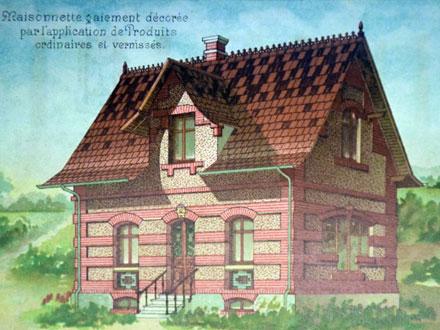 Exemple de produits ordinaires et vernissés, au catalogue de la Grande tuilerie de Bourgogne à Montchanin en 1886, coll° Ph. Le Port