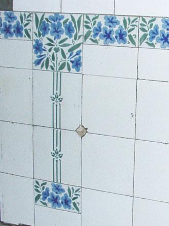 Décor intérieur provenant de la Manufacture céramique d'Hemixem (Belgique) Gilliot & Cie