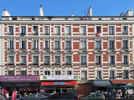 32 rue Jean Jaurès, briques sous un badigeon rouge, carreaux Hte Boulenger & Cie