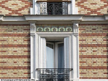 37 rue Etienne Marcel, jeux de briques, carreaux Hte Boulenger & Cie