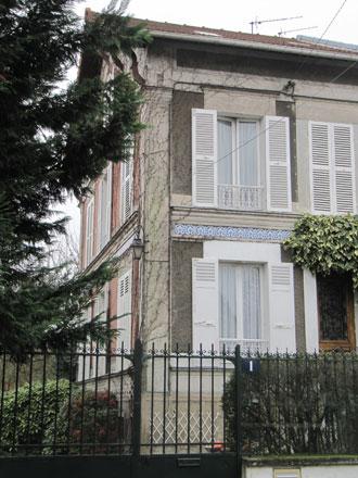 Bandeau de carreaux de faïence de Creil & Montereau