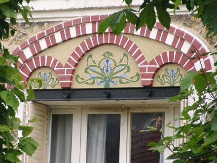 Panneaux de mosaïques, iris
