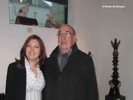 Michel Pasquier et Julie Brossier-Duclos lors d'une exposition temporaire au Musée de Sologne en 2013