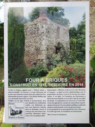 Restauration d'un four à briques à Cour-Cheverny portée par l'association «Histoire & découverte entre bruyères et roseaux»