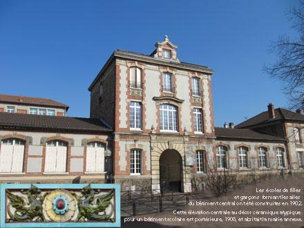 Groupe scolaire et mairie annexe, 1902/19084, 11 av. de la République à Aulnay-sous-Bois (93)