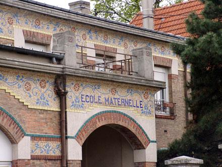 Ecole maternelle, 19291, 36 rue Vauban à Livry-Gargan (93), mosaïque de Mazzioli