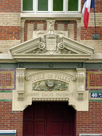 Ecole de filles, 40 rue Manin à Paris (75), céramique