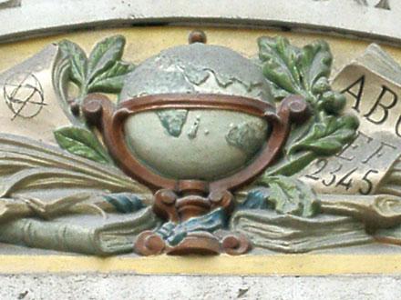 Ecole maternelle, 40 rue Manin à Paris (75), céramique