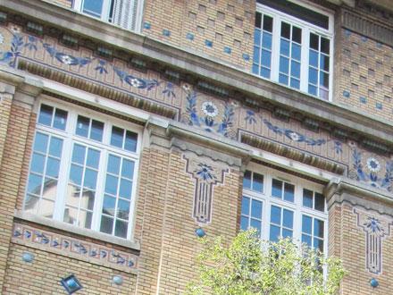 Ecole de filles, Ecole de garçons, 15/17 rue Neuve St Pierre à Paris (75), mosaïque probablement de Gentil & Bourdet