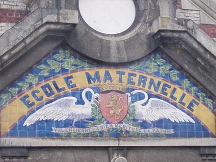 Ecole maternelle, rue Jean Bonmarché à Valenciennes (59), céramiques