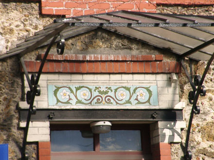 Frise de Brocard et Leclerc, maison démolie (93)