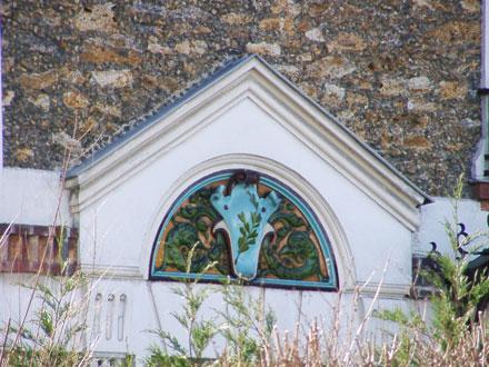 Fronton de Brault Gilardoni, maison démolie (93)