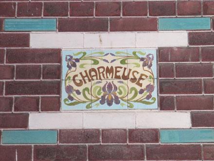 Panneau nommant une maison au Tréport (80)