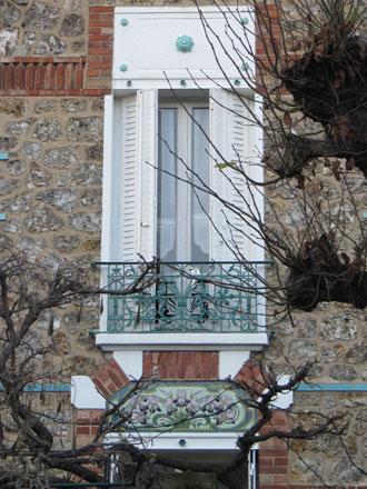 Panneau iris de style Dolis à Courbevoie (92)