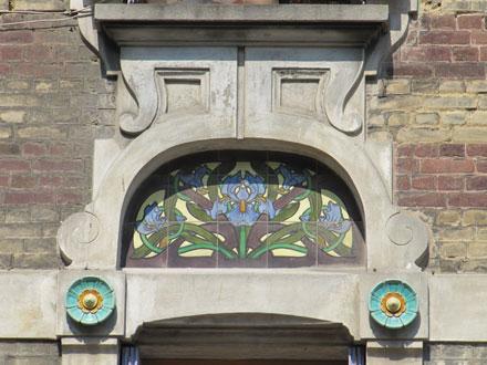 Panneau iris de Janin & Guérineau à Mers-les-Bains (80)