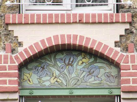 Panneau iris à Colombes (92)