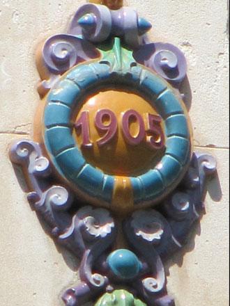Cartouche 1905 de la Gde Tuilerie de Bourgogne, à Barcelonnette (04)