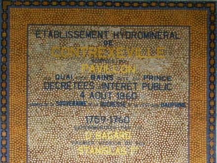 Historique de la source à Contrexéville (88), mosaïques de Gentil & Bourdet