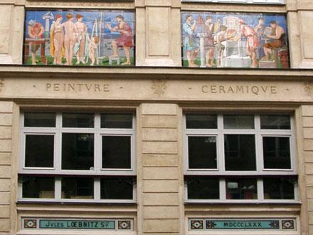 Ateliers  des céramistes Pichenot  1834 puis Loebnitz, rue de la Pierre Levée à Paris (75)