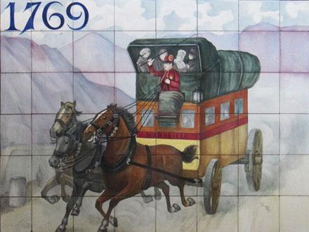 Panneau à caractère historique à Paray-Vieille-Poste (91), d'Hte Boulenger & Cie