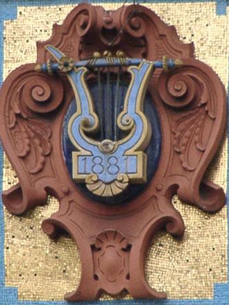 Mosaïque et terre cuite 1881 au théâtre Antoine à Paris (75)