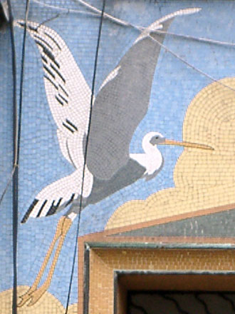 Cigognes en mosaïque, de Gilardoni, Le Raincy (93)