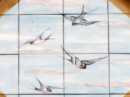 Hirondelles, panneau Gien, Enghien (95)