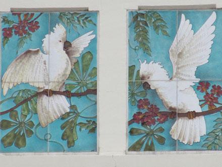 Perroquets, panneaux marqués MF (Carré), Choisy-le-Roi (94)