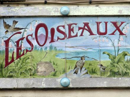 LES OISEAUX, plaque nommant une maison, Le Tréport (76)