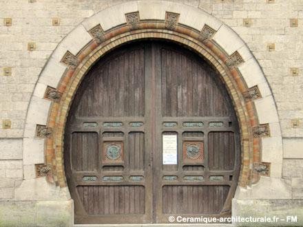 Porte en forme de foudre  chez Gaxieu & Beaudet, à Saint-Dizier (02)