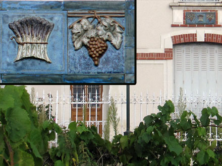Raisin et asperges, grès d'Alexandre Bigot, à Soings-en-Sologne (41)