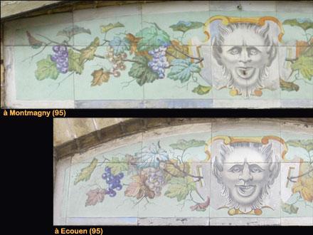 Allongement du motif pour s'adapter à la taille du linteau à décorer, à Ecouen et Montmagny (95)