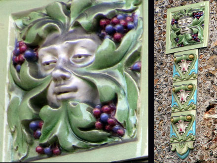 Mascaron et raisins, allégorie de l'automne, par Gilardoni fils & Cie, à Versailles (78)