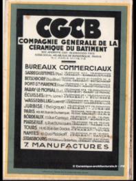 Usines et dépôts de la CGCB, vers 1925-1935