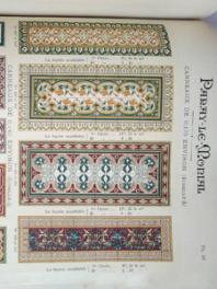 Page du catalogue de la Société Anonyme des Carrelages Céramiques de Paray-le-Monial, 1911